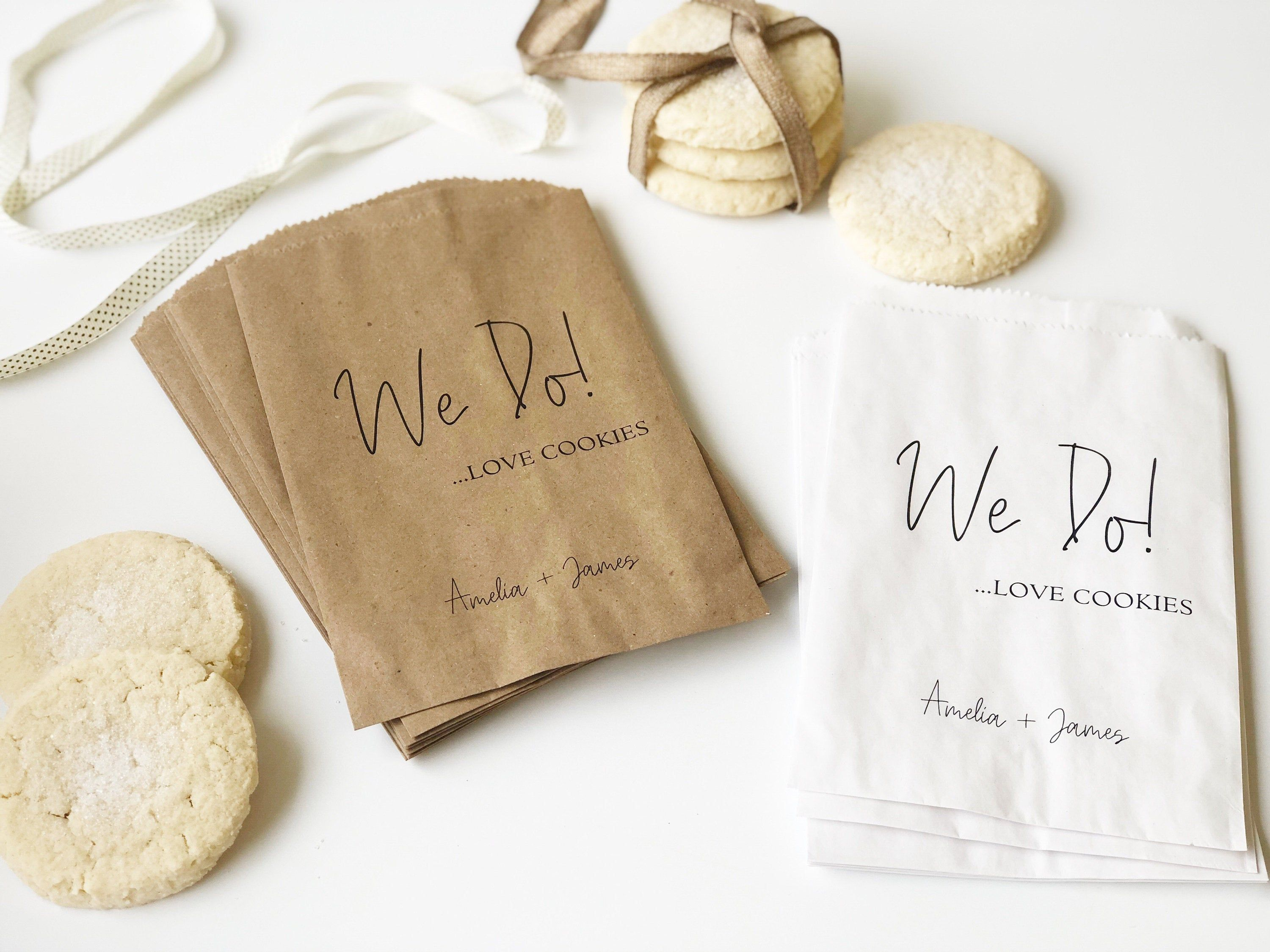 Wedding Cookie Bags Personalized Treat Bags For Your Wedding Cookie Bar Or Buffet Sets Of 25 In 2020 Wedding Cookies Bags Wedding Cookies Cookie Bar Wedding