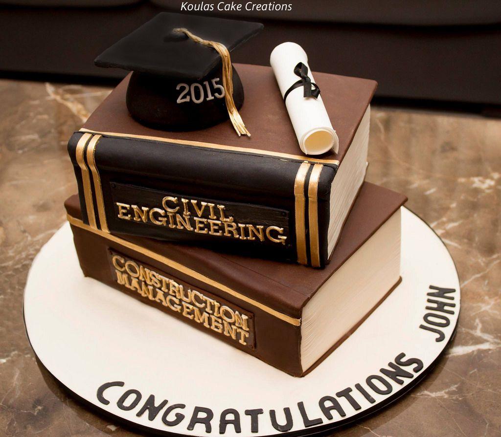 Graduation Book Cake With Images Graduation Cakes Graduation