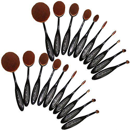 267acf7d5722 110OVBRSH10 New 2016 Pro Balance Soft Hair Oval Makeup Brush Sets ...
