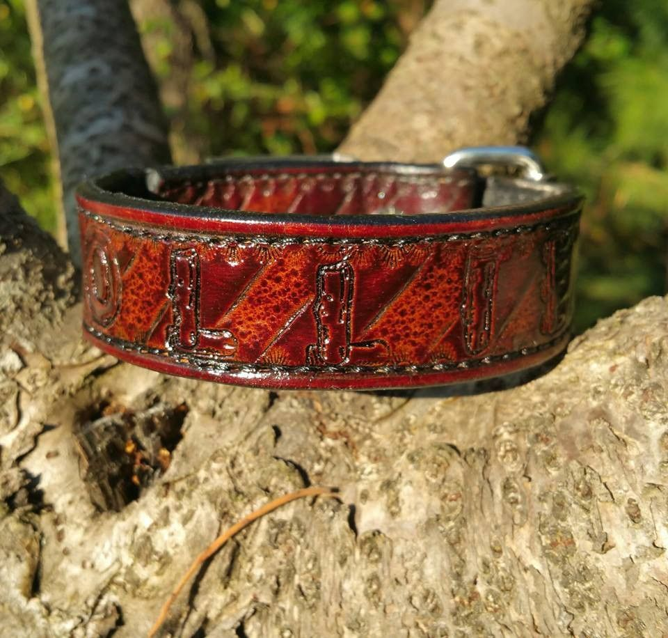 493c8bc26922 The Ollie - Personalized Heavy Duty Leather Dog Collar Padded ...