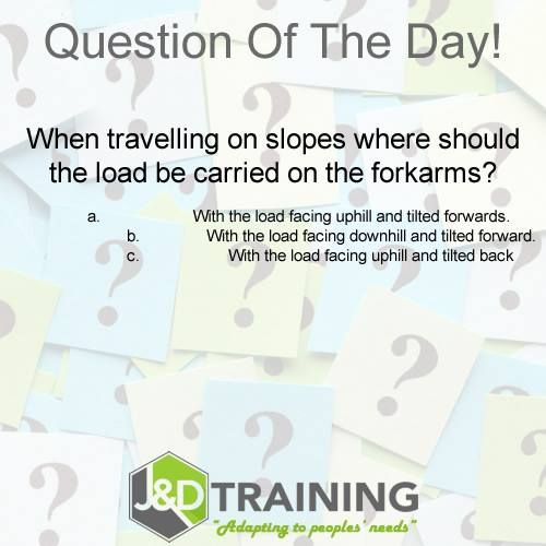 Forklift question of the day 6 from http://ift.tt/1HvuLik #forklift #training #safety #jobsearch