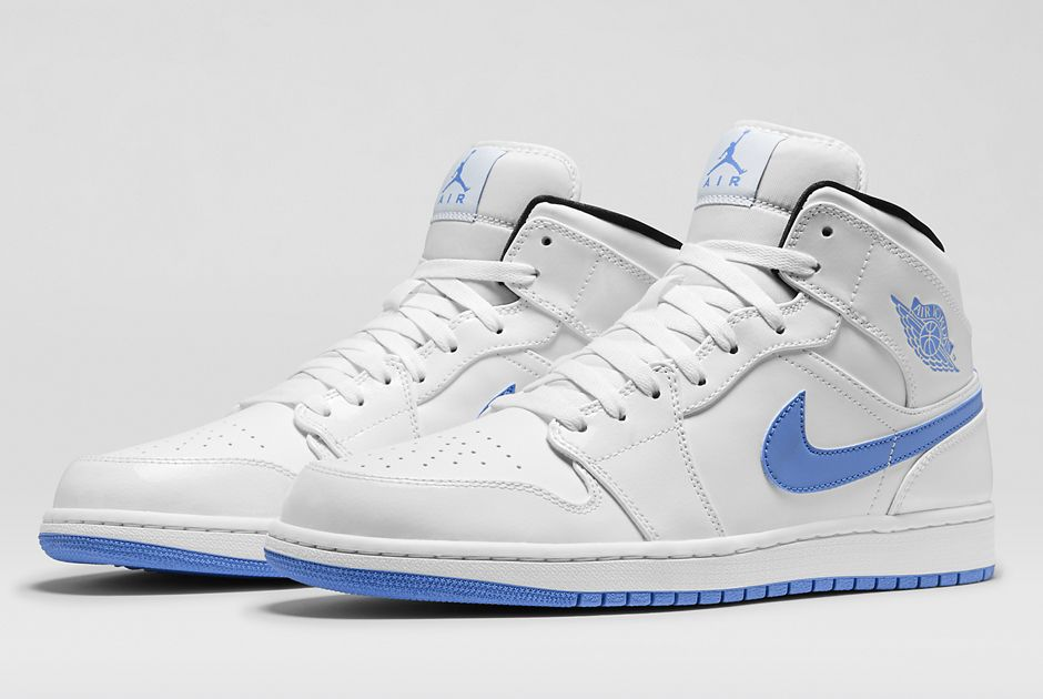 promo code 9a7a8 015fa Air Jordan 1 Mid White Black Legend Blue