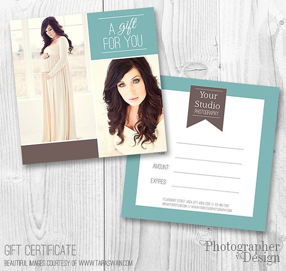Photography Gift Certificate Template by PhotographervsDesign, $800 - best of photographer gift certificate template