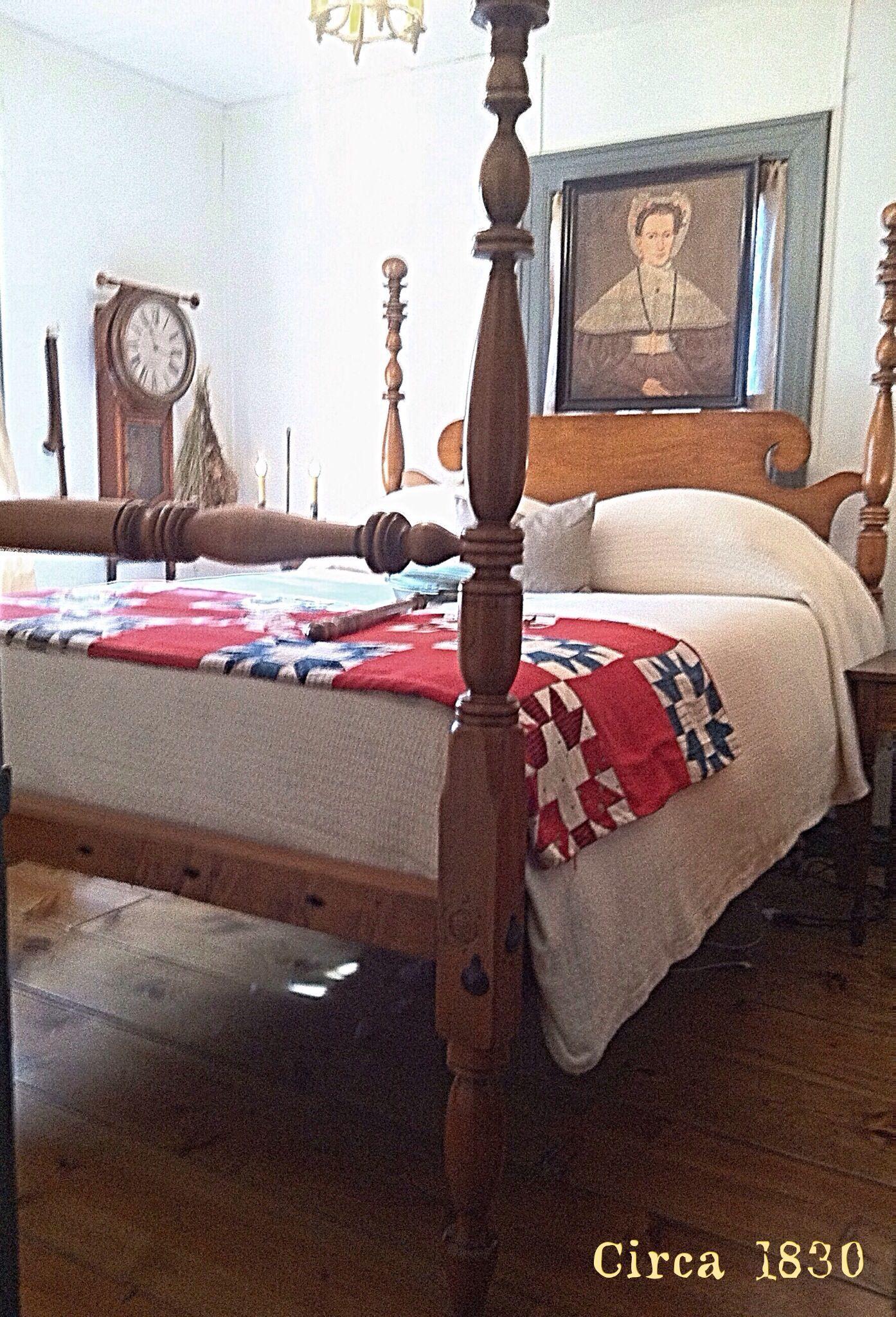 Colonial Bedrooms Primitive Bedroom Pinterest