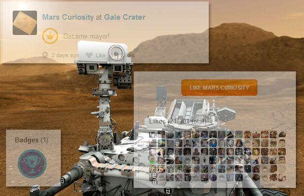 Марсоход Curiosity «зачекинился» на Марсе