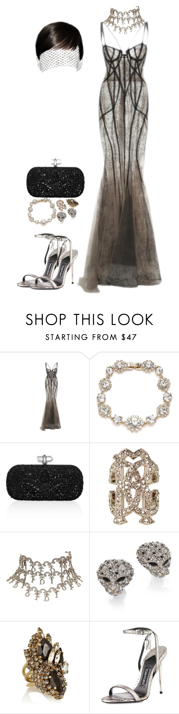 """Mother Dearest."" by ayooniesex3 ❤ liked on Polyvore featuring Marchesa, Roberto Cavalli, Christian Dior, Yves Saint Laurent, Erickson Beamon and Tom Ford"