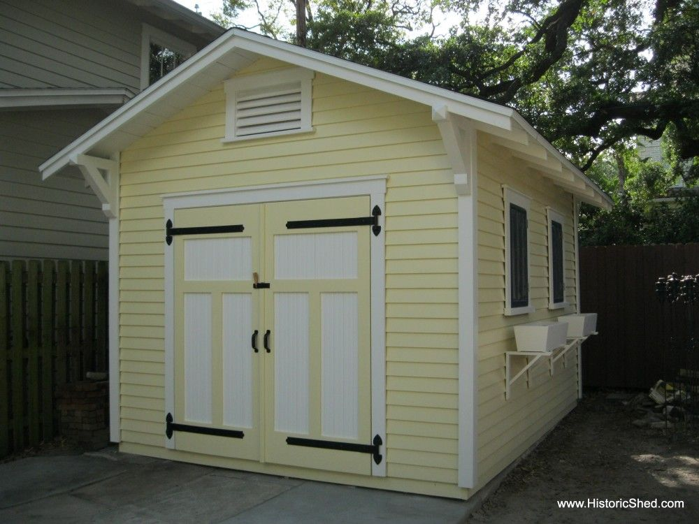 Custom Wood Storage Shed For A Craftsman Bungalow Historic Shed Shed Design Shed House Plans Shed Plans