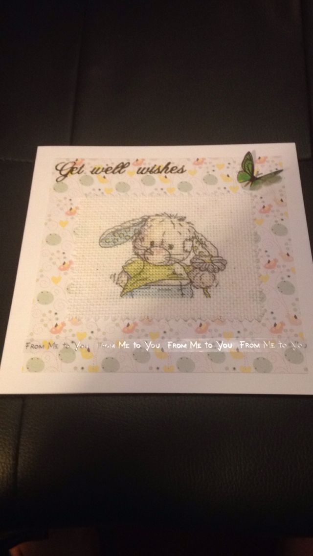 Somebunny to love cross stitch card for more like FaerieFish on facebook.x