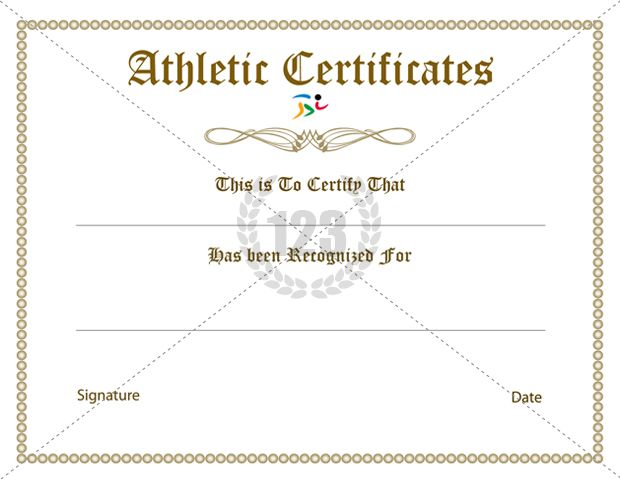 rare athletic certificate template free 123certificate templates