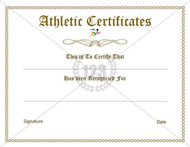 Sports Certificate Template – Winner Certificate Template Free