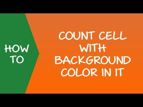 How to count colored cells in excel step by step guide video in this tutorial learn how to count colored cells in excel it will show you how to do this using three methods filter and subtotal getcell and vba ibookread Read Online