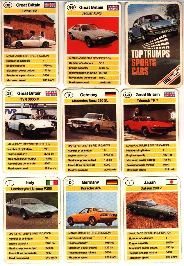 Top Trumps Sports Cars Cars Pinterest Top Trumps And Sports - Sports cars top trumps
