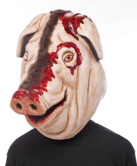 Blood Pig Latex Adult Mask Creepy Horror Head Halloween Trick Or Treat Studios