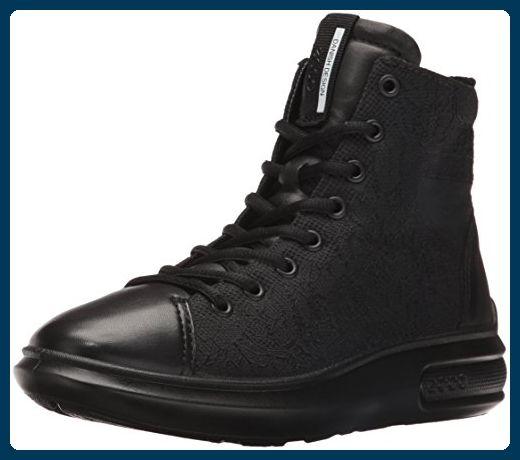 Ecco Soft 7 Ladies, Sneakers Hautes Femme, Noir (Black/LION59075), 39 EU