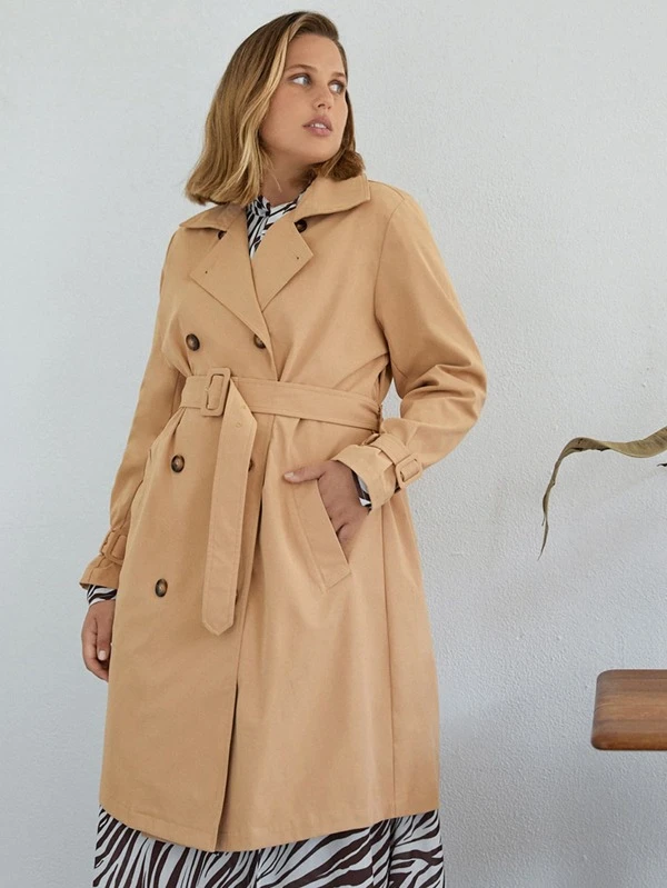 Belted Trench Coat, Trench Coat Buckle Collar