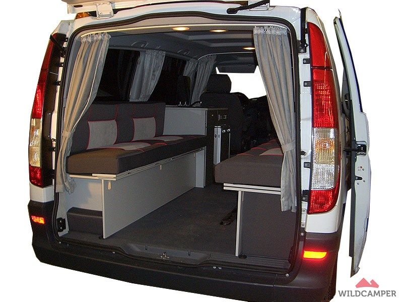 ausbauvariante 2 mercedes vito heckansicht camper. Black Bedroom Furniture Sets. Home Design Ideas