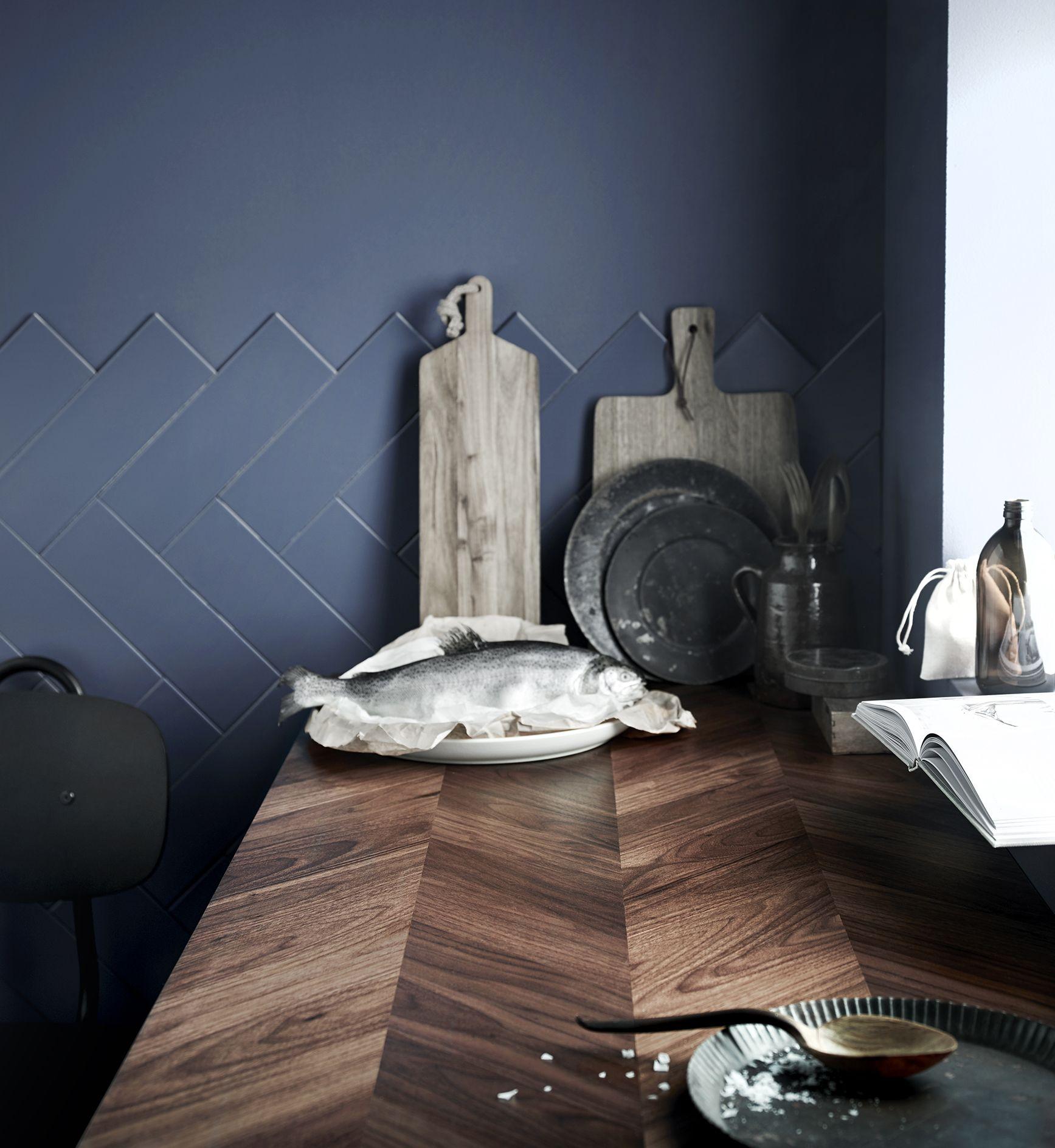 KARLBY Bordplade valnøddetræ, finer IKEA