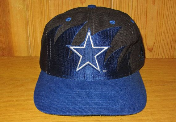 1d58d21f1de623 DALLAS COWBOYS Official NFL Sharktooth Snapback Hat Vintage 90s Logo ...