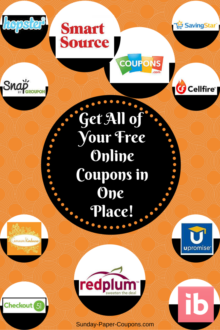 it's great! you can get all of your free online coupons from one