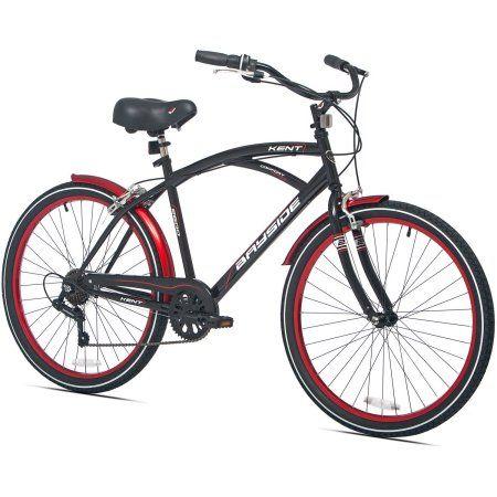 26 inch Men's Kent Bayside Cruiser Bike, Black