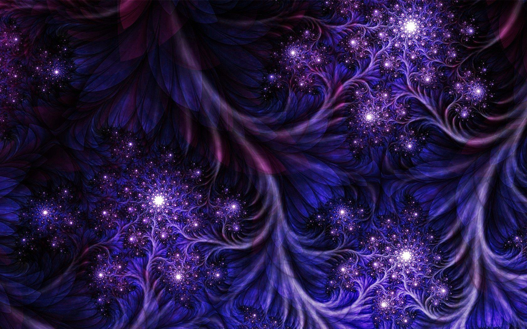 Abstract Fractal Wallpaper Abstract Dark Purple Fractal