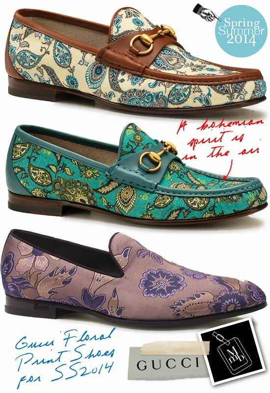 d94b497e53fe Gucci Floral Print Mens Shoes For Spring Summer