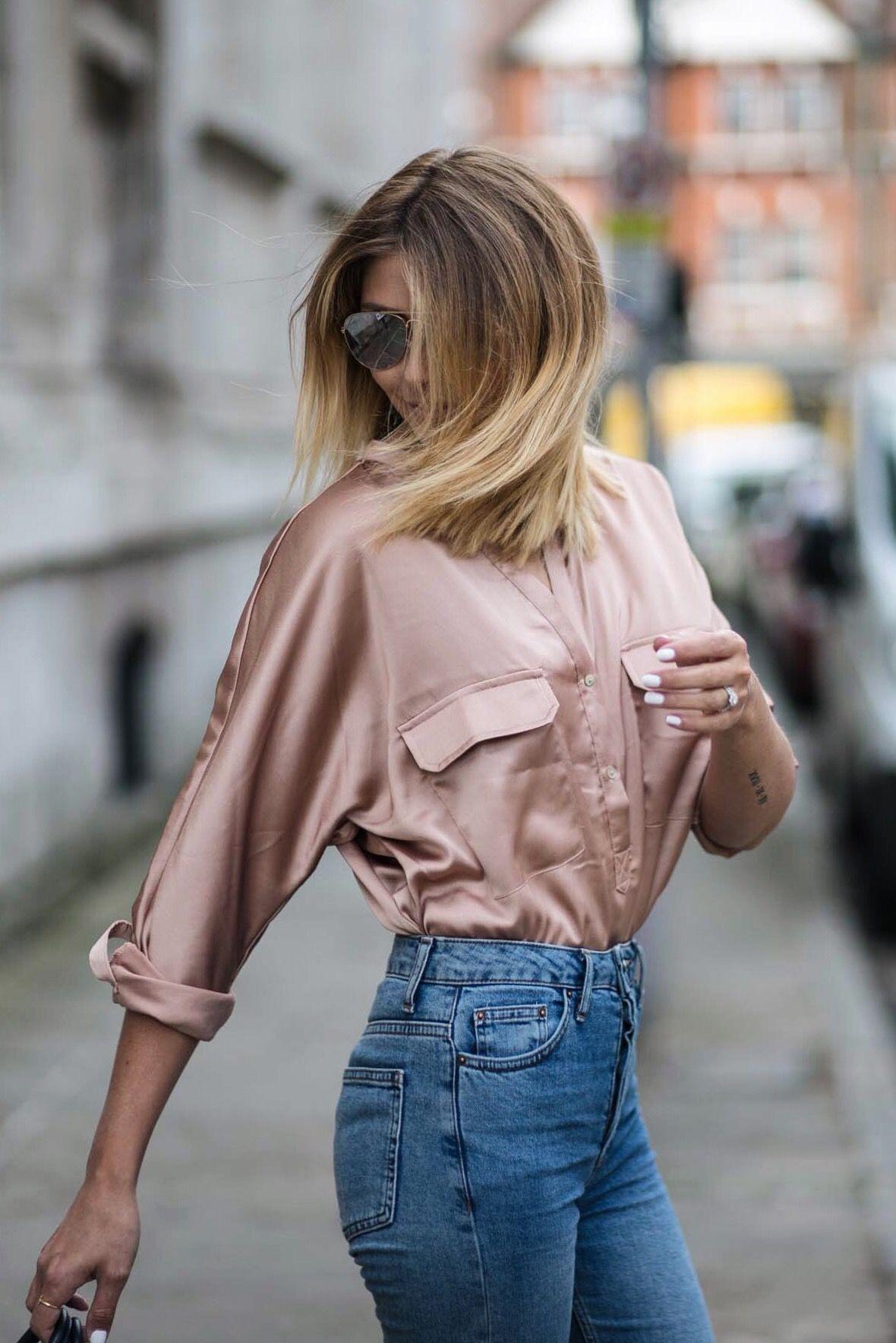 rose gold satin shirt 1651d848b