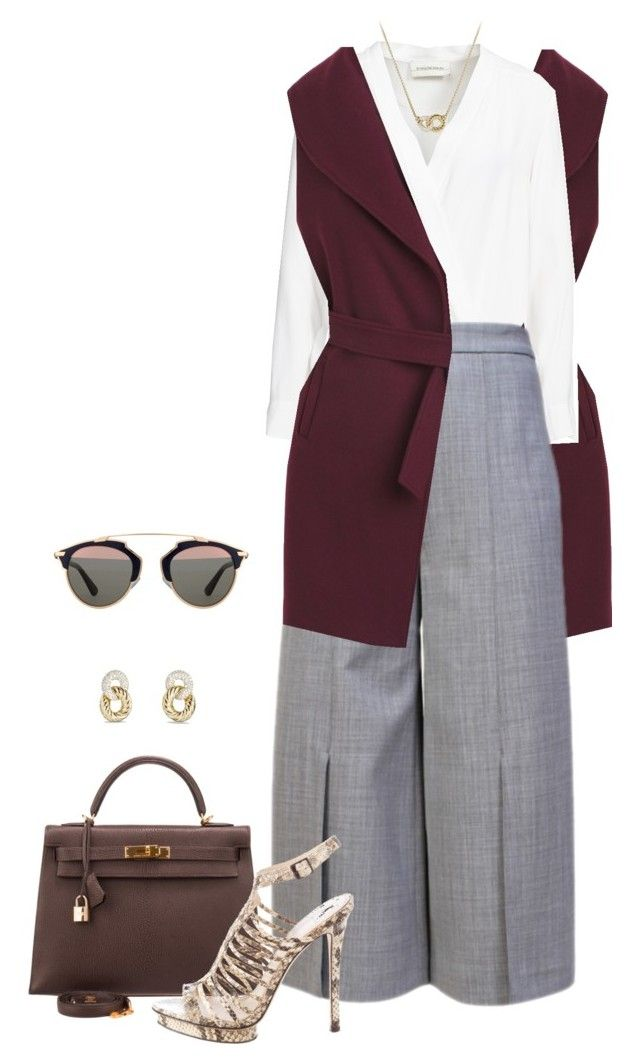 Untitled #2484 by elia72 on Polyvore featuring polyvore, fashion, style, By Malene Birger, White House Black Market, Proenza Schouler, B Brian Atwood, Hermès, David Yurman, Christian Dior, women's clothing, women's fashion, women, female, woman, misses and juniors #elia72