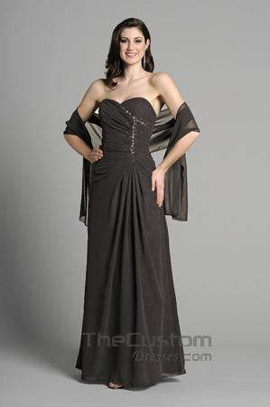 A-line Sweetheart Floor-length Chiffon Satin Bridesmaid Dresses 14305322