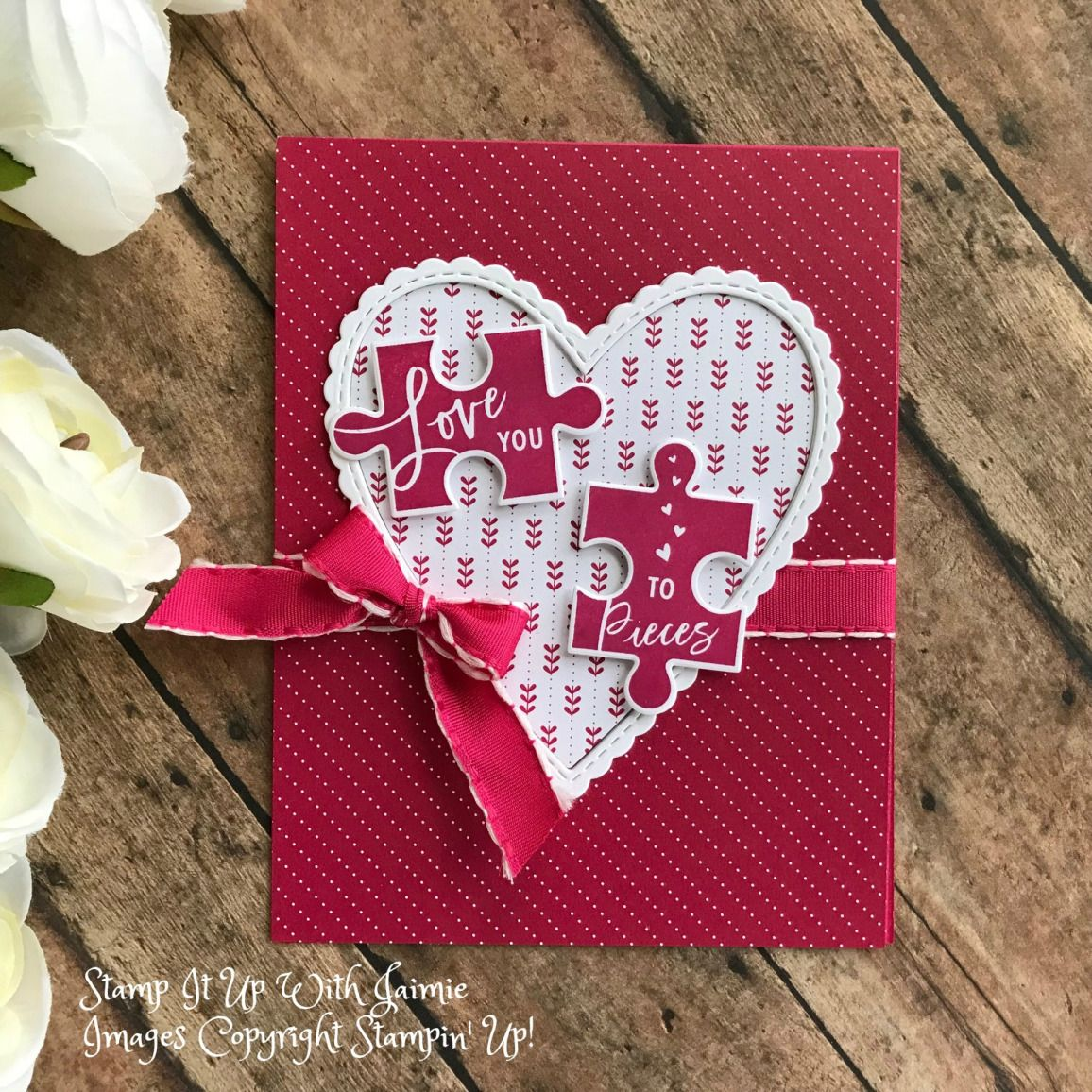 stampin' up love you to pieces  hss 307 in 2020