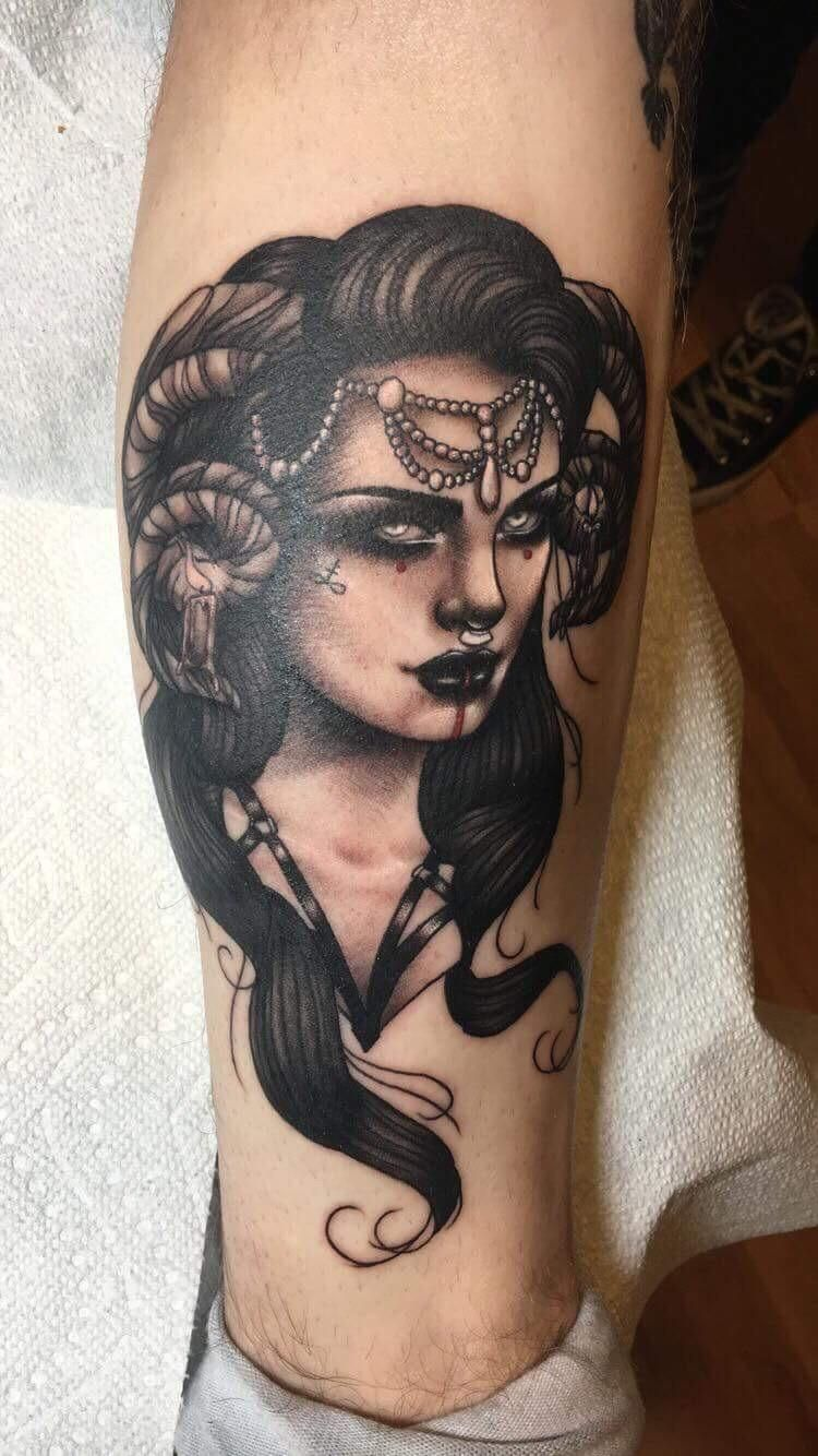 ded18b0e49335 Demon Lady by Nikole Ashlock at Black Arrow in Jonesboro AR Tattoo  Mistakes, Nerd Tattoos
