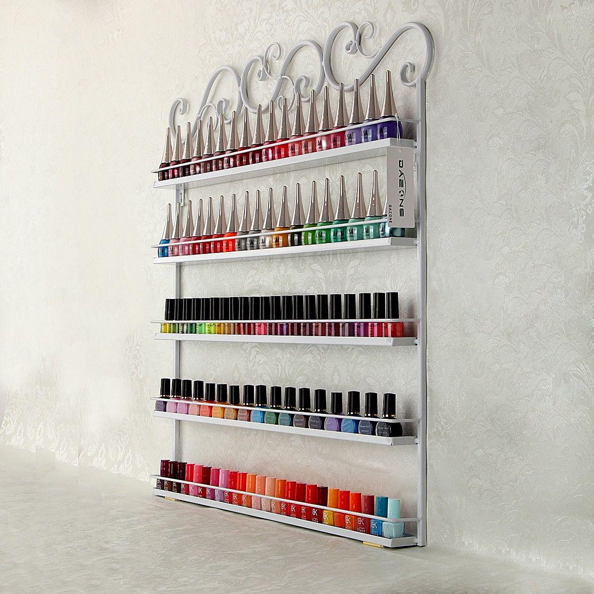 Nail Polish & Perfume Display Wall Rack Organizer Custom Wrought ...