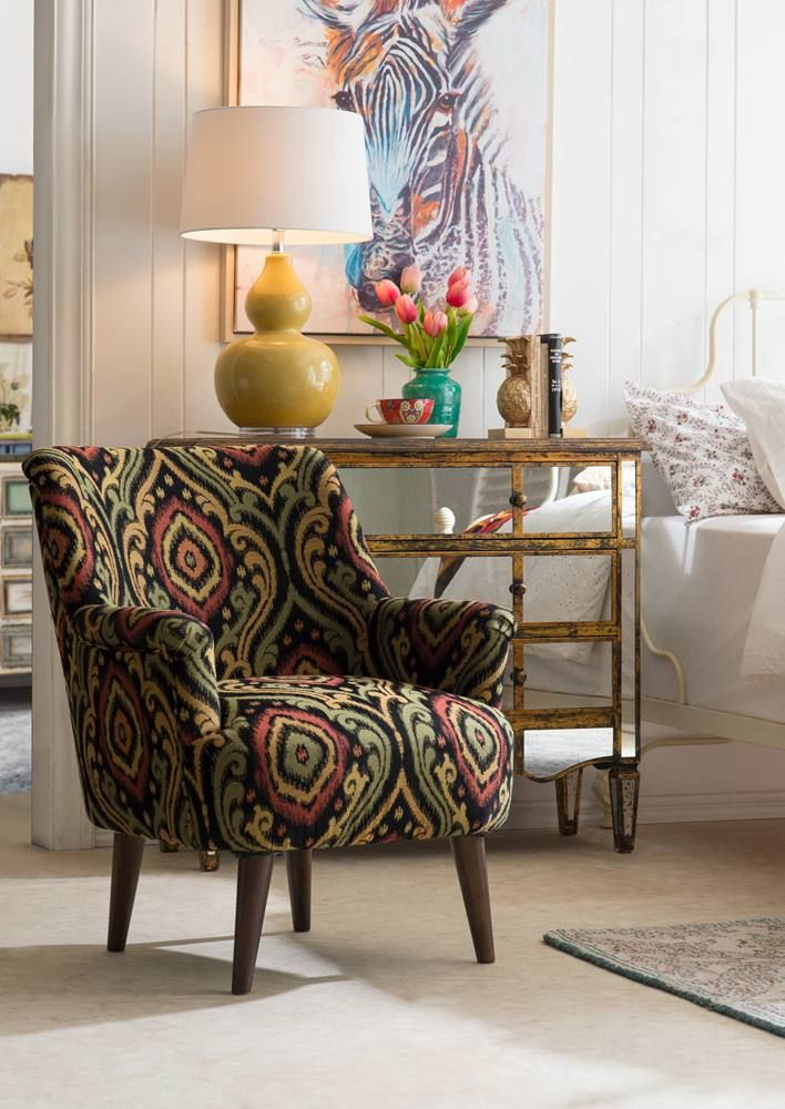 Hayden Upholstered Accent Chair ☆ Creative CoOp Home Furniture Adorable Upholstered Chairs Dining Room Creative