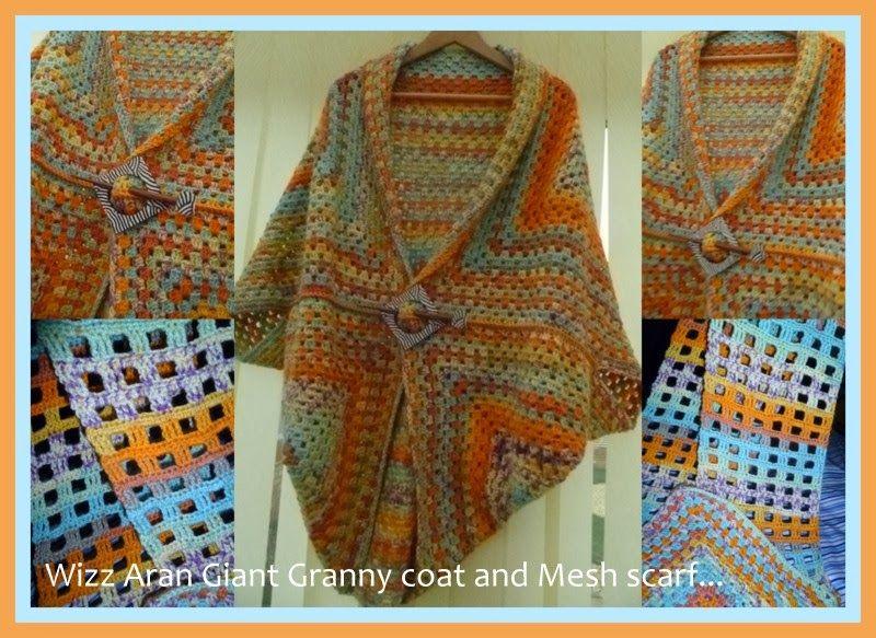 Crpchet Granny Square Coat Finished? (The 8th Gem) | Ponchos ...