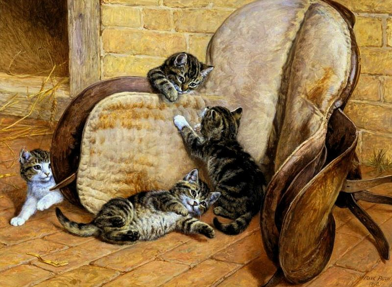 Kittens in the Stable Frank Paton private collection