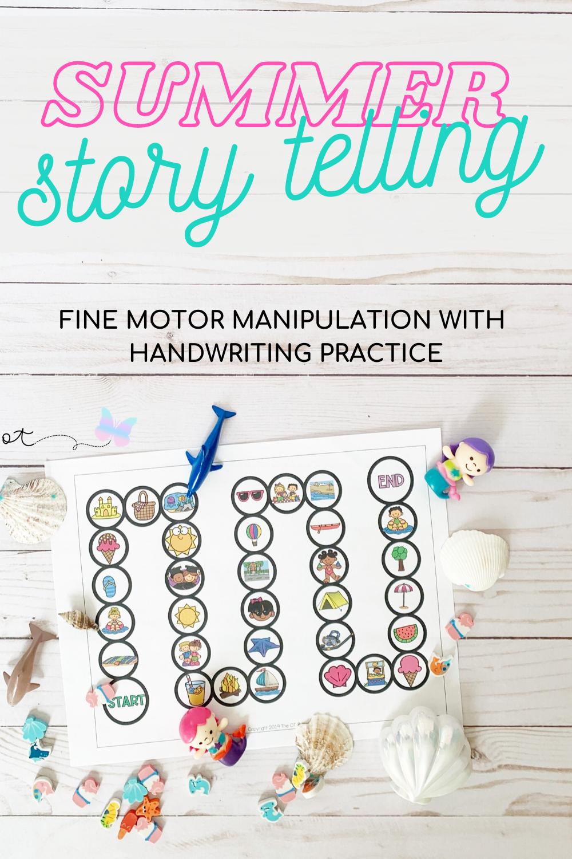 Fine Motor Game Summer No Prep Handwriting And Manual Dexterity Skills Fine Motor Activities For Kids Prewriting Skills Handwriting Activities