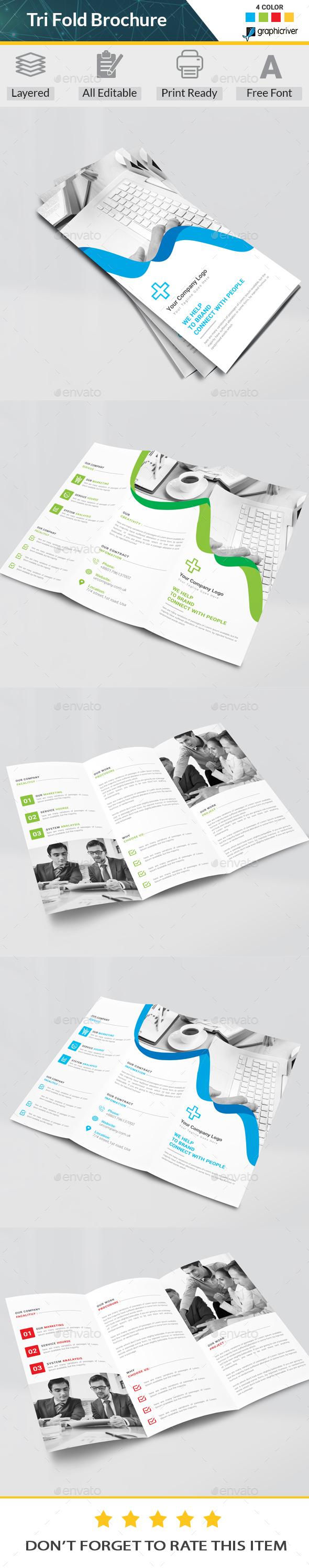 tri fold brochure photoshop psd business brochure brochure