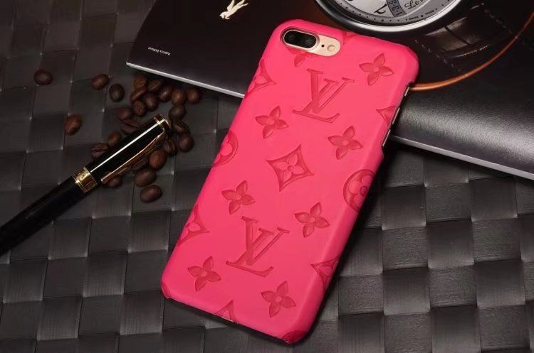 leather louis vuitton iphone 7 iphone 8 cases phone cover rose