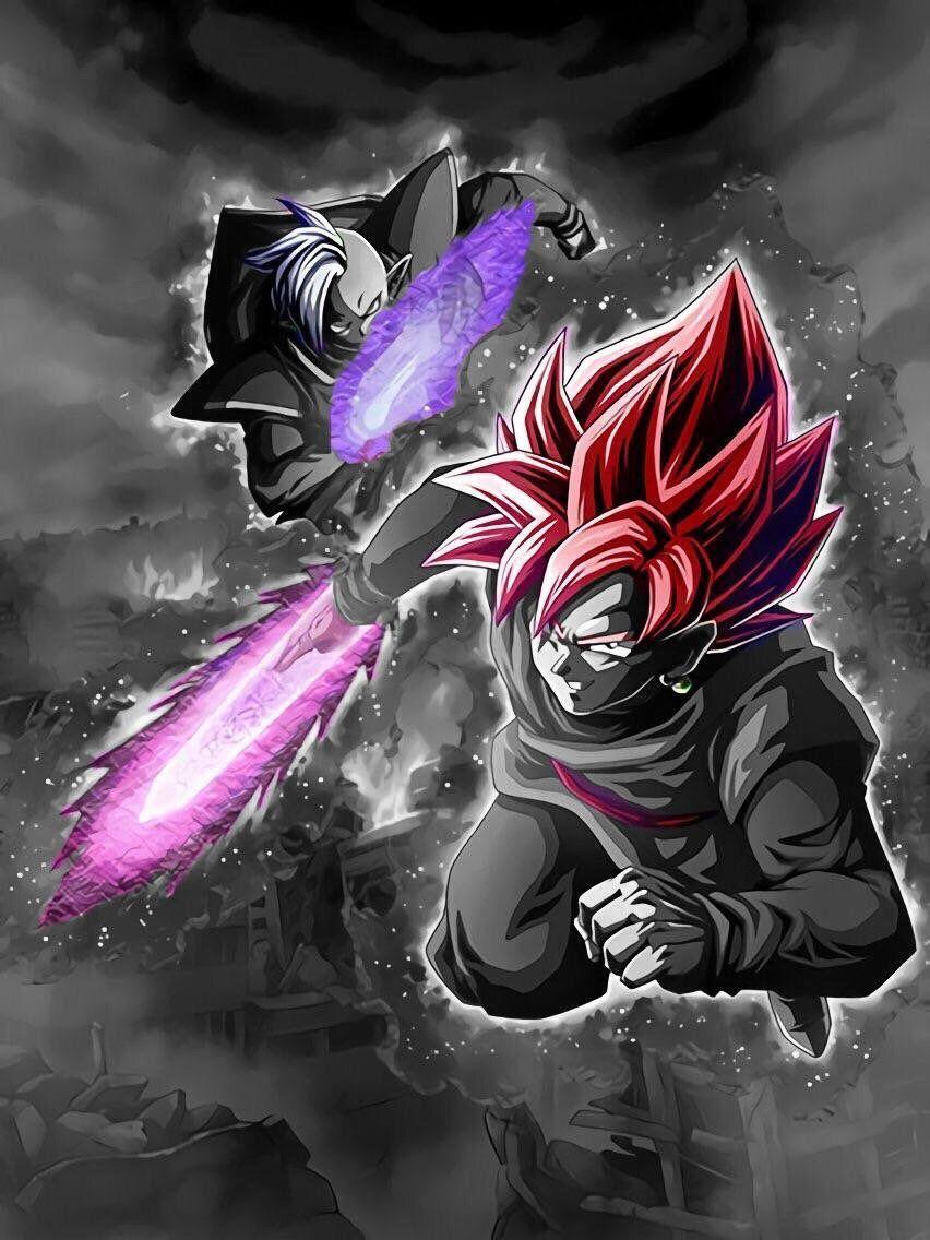 Lr Super Saiyan Rose Goku Black Zamasu Edit Wallpaper