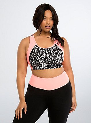 Plus Size Torrid Active - Ikat Print Sports Bra,