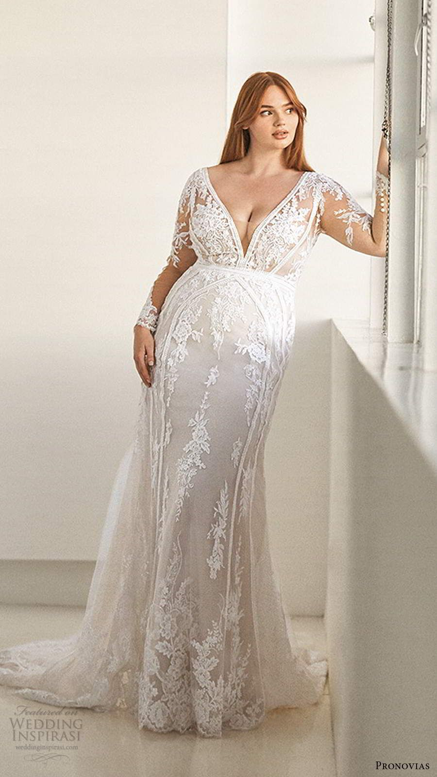 Ashley Graham X Pronovias 2020 Wedding Dresses A Gorgeous New Size Inclusive Bridal Collection Wedding Inspirasi Plus Wedding Dresses Wedding Dress Long Sleeve Fitted Wedding Dress [ 1600 x 900 Pixel ]