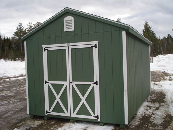 10 X16 Storage Building A Frame Style Pequea Green Wall Color