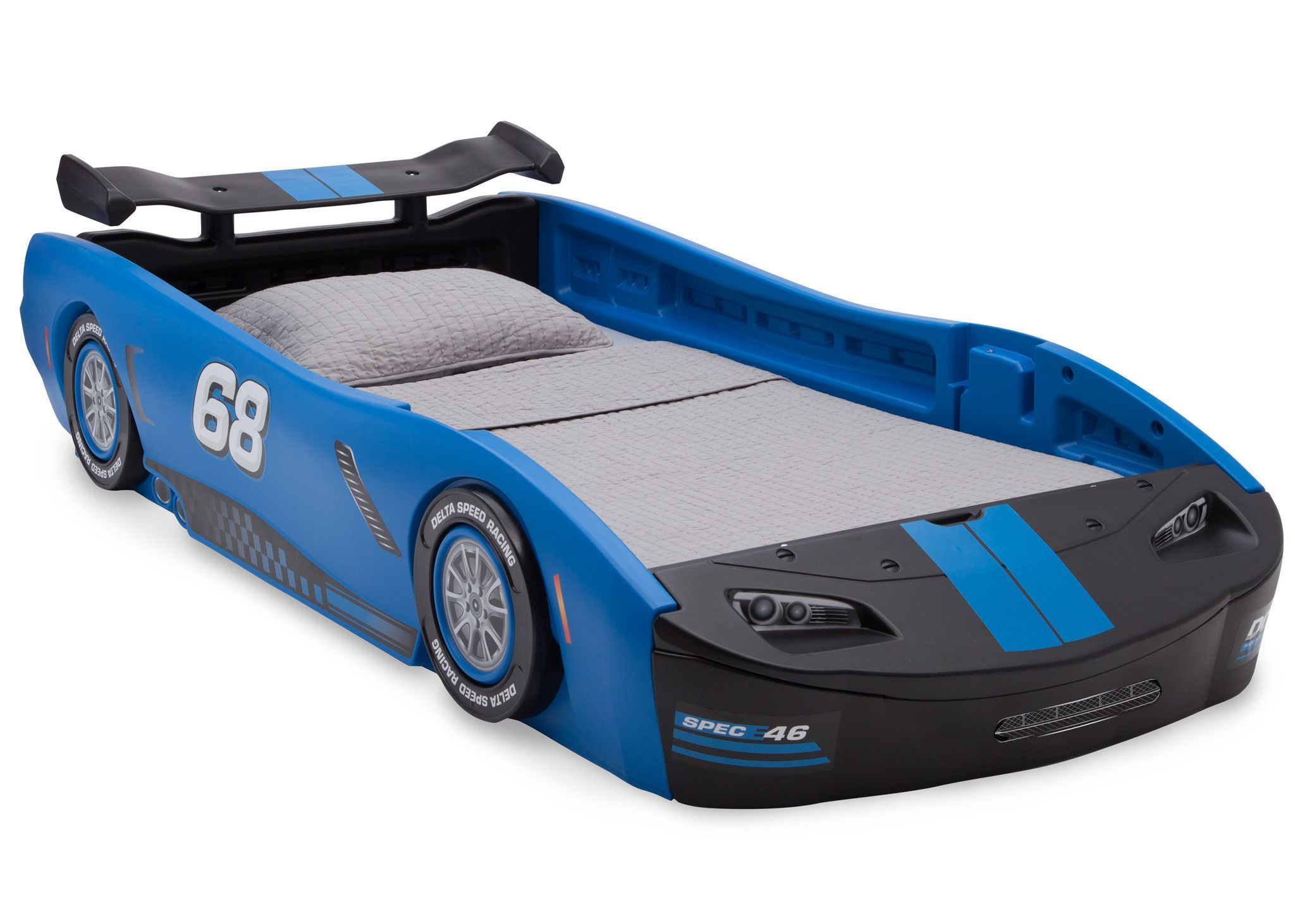 Turbo Race Car Twin Bed, Blue Twin car bed, Delta