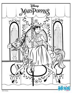 Disney Zum Ausmalen Mary Poppins Mary Poppins Disney Coloring