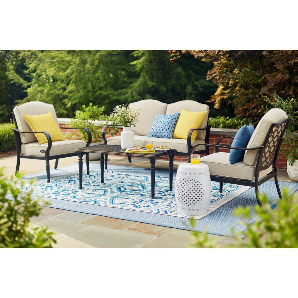 Big Yard Get Matching Dining And Conversation Sets For A Coherent Look Grande Cour Arri Outdoor Living Space Outdoor Furniture Sets Resin Outdoor Furniture
