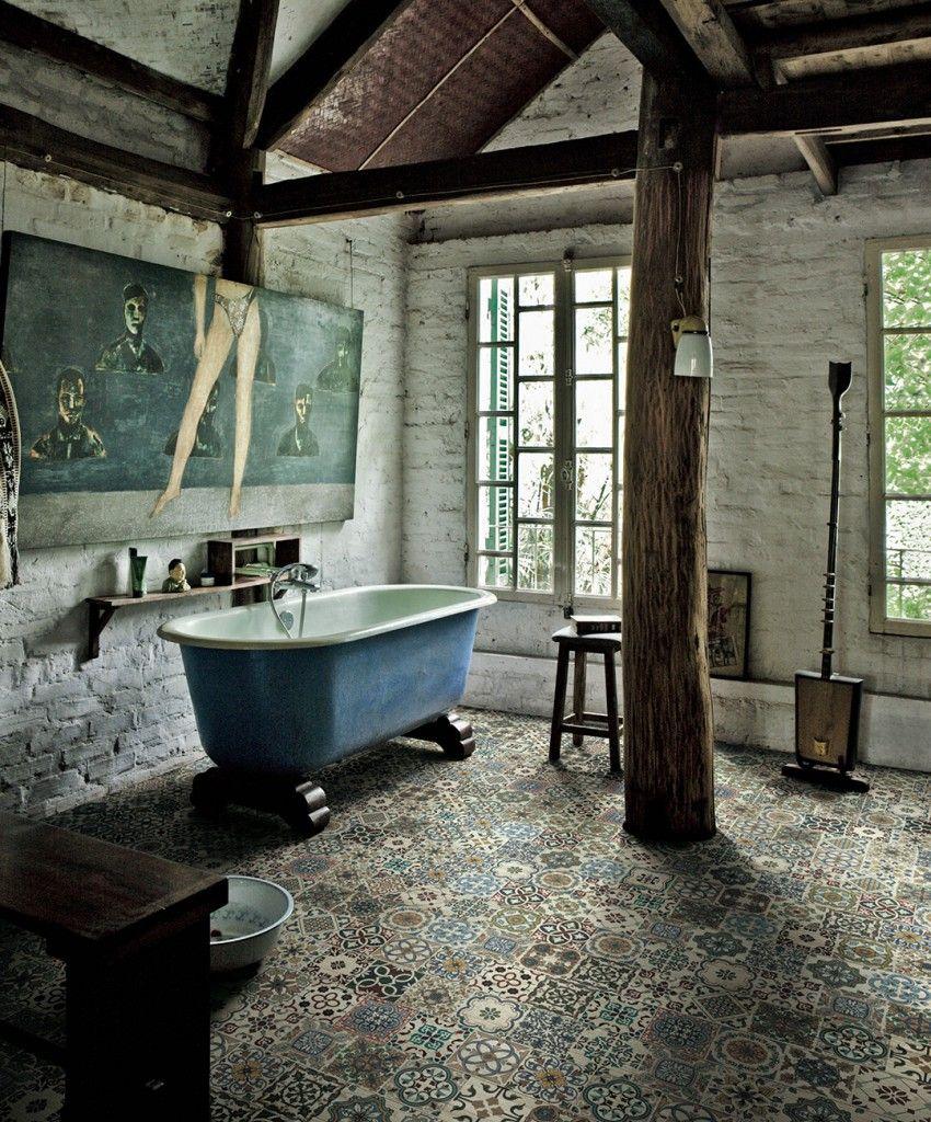 XILO 1934 IL PARQUET DECORATO Bathroom, Clawfoot