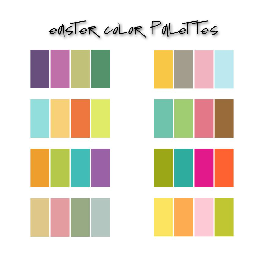 Easter palettes | colors | Color, Yarn color combinations ...