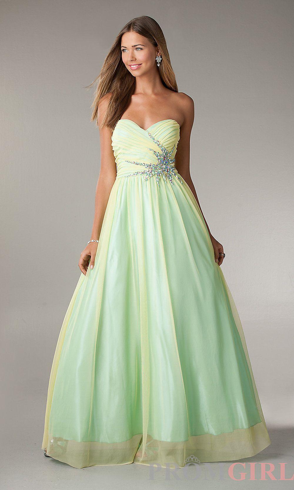 Long Strapless A-Line Prom Dress on Wanelo | Dresses | Pinterest ...