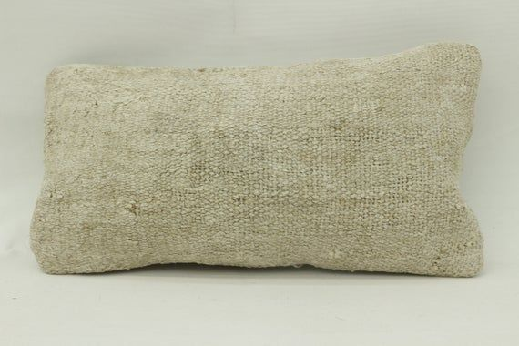 8x16 Kilim Pillow, Needlepoint Kits Pillow, Hemp Neck Pillow, Throw Pillow, Cushion Cover, Boho Pill