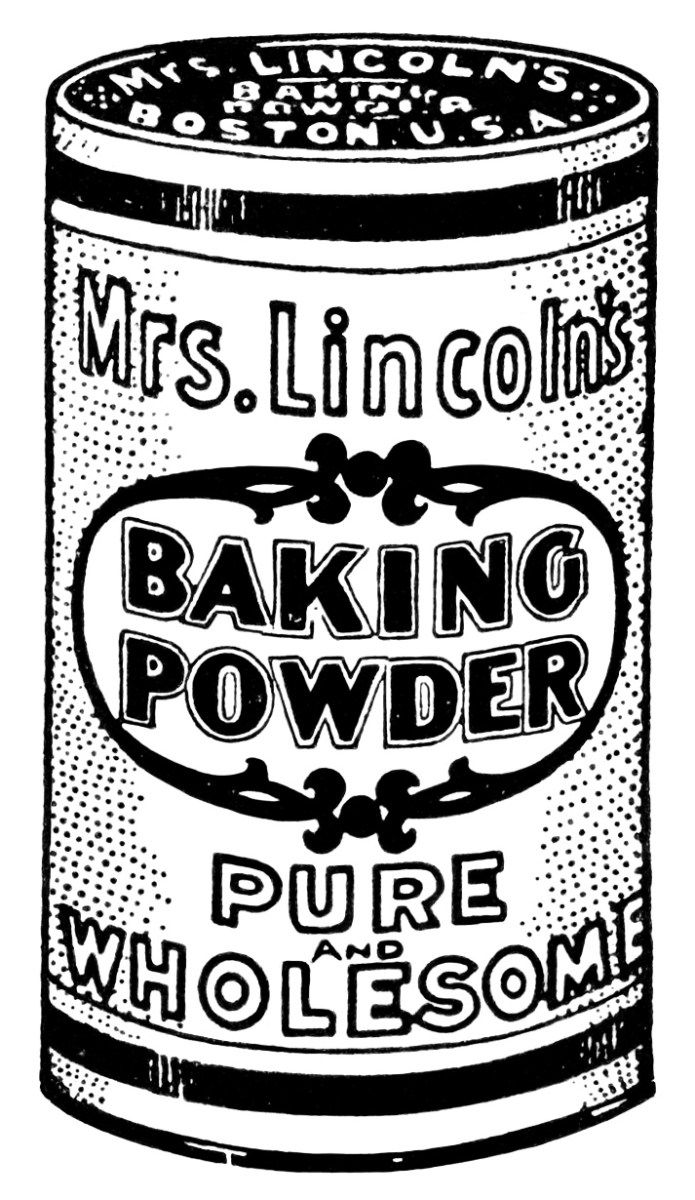 Baking Powder Clip Art ~ Free Vintage Graphics | Vintage ...  Retro Clip Art Food